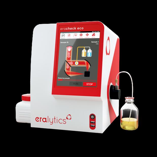 ERACHECK ECO running an oil-in-water measurement