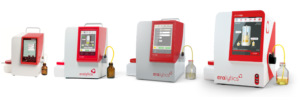 Generations of ERAVAP analyzers starting from 2007 to 2016