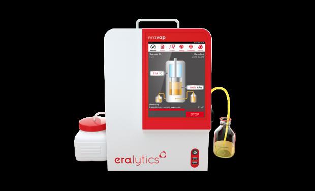 ERAVAP running a vapor pressure measurement of a gasoline sample