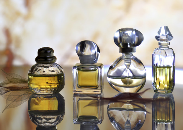 Bottles of different fragrances
