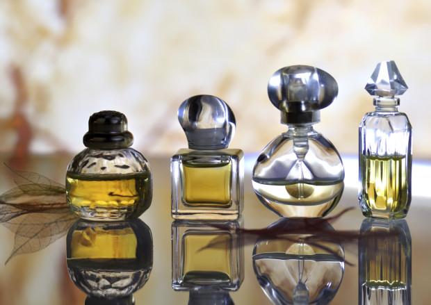 Bottles of different fragrances